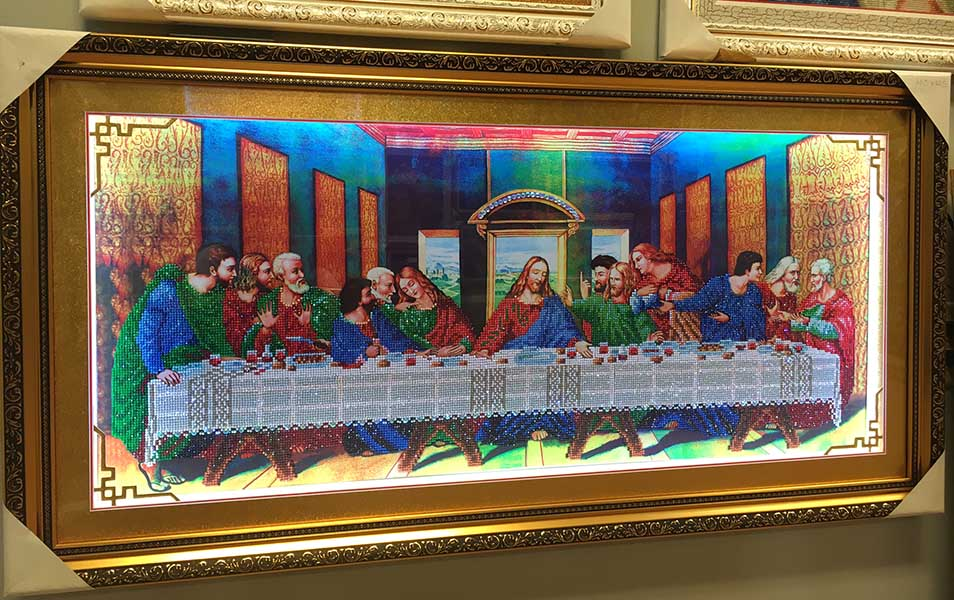 Diamond embroidery painting last supper - LocTroiArt LLC